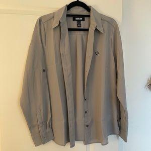 Chase bank uniform button up blouse